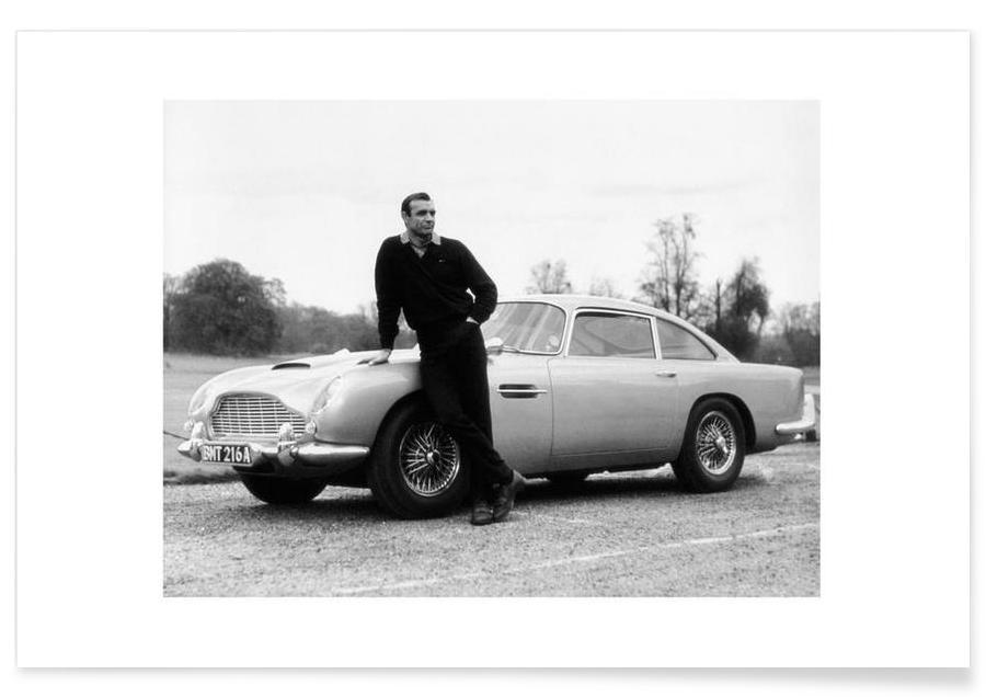 James Bond, Noir & blanc, Films, Sean Connery dans Goldfinger, 1964 - Photographie affiche
