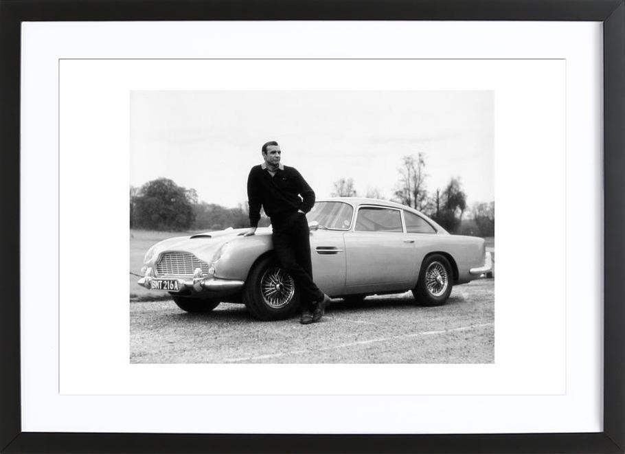 Sean Connery in Goldfinger, 1964 affiche sous cadre en bois
