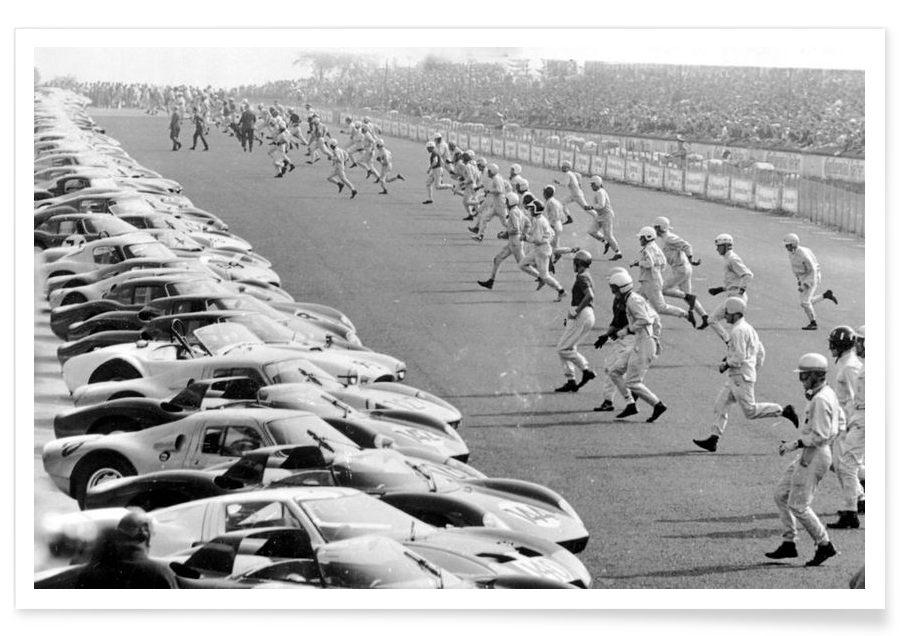 Départ Nürburgring 1964 - Photographie vintage affiche