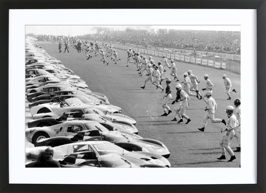 Start, Nürburgring 1964 ingelijste print