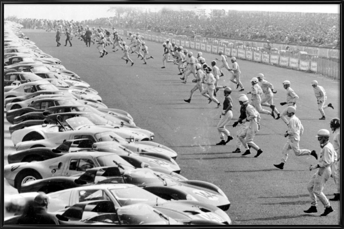 Start, Nürburgring 1964 -Bild mit Kunststoffrahmen