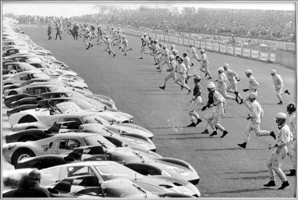 Start, Nürburgring 1964 -Poster im Alurahmen