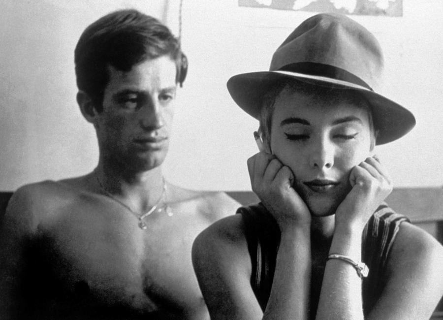 Jean-Paul Belmondo and Jean Seberg in Breathless, 1960 Canvas Print