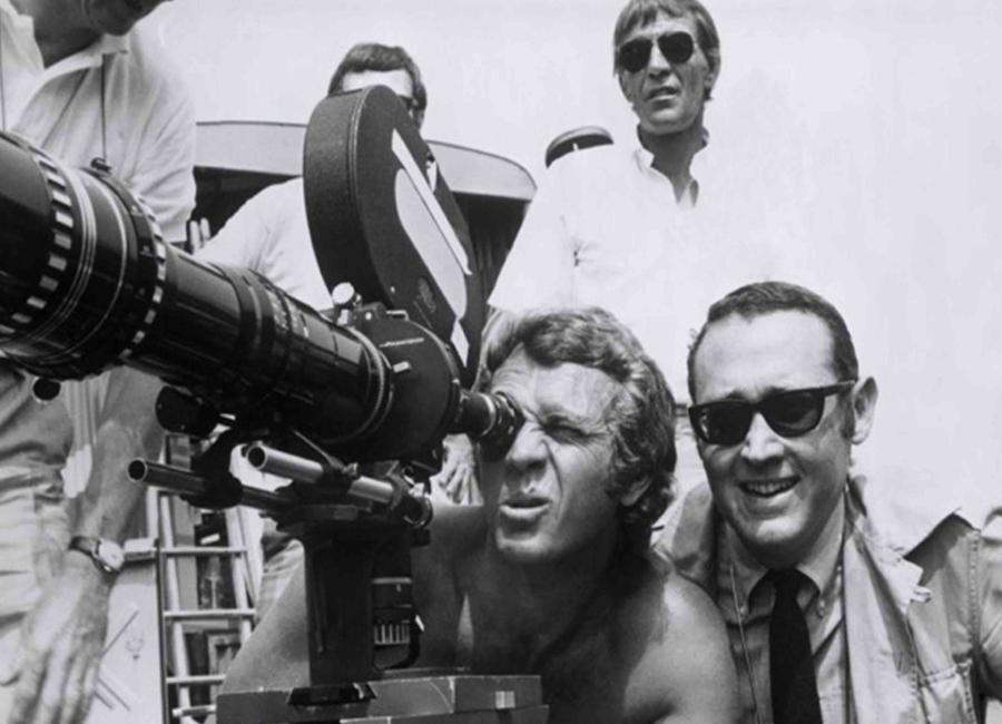 Steve McQueen behind the Camera Canvas Print