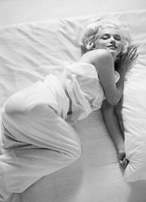 Marilyn Monroe in Bed -Leinwandbild