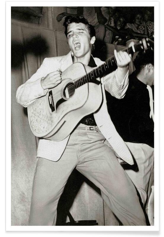 Elvis, Elvis Presley - Photographie vintage affiche