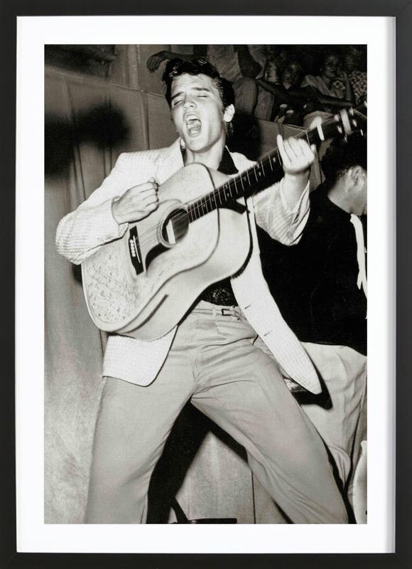 Elvis Presley -Bild mit Holzrahmen