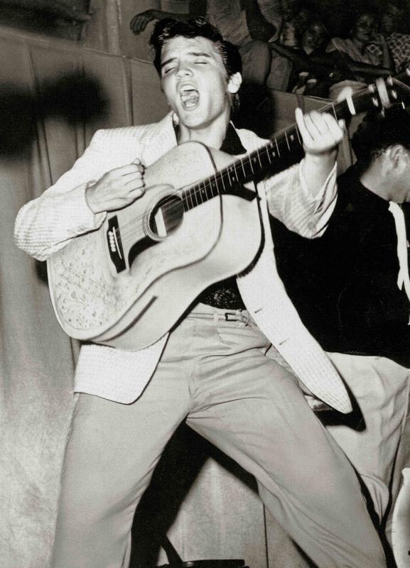 Elvis Presley canvas doek