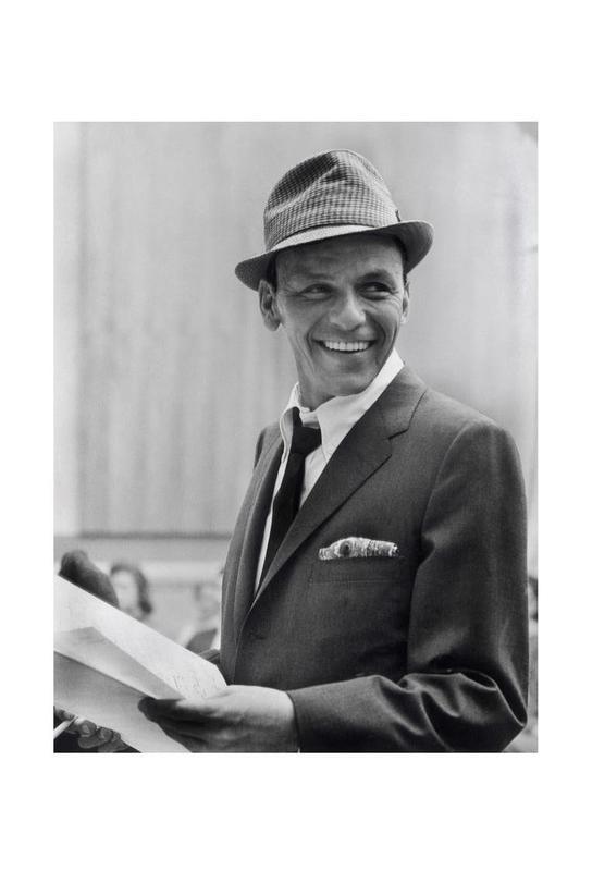 Frank Sinatra, 1957 Aluminium Print