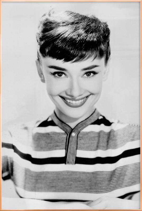 Audrey Hepburn 2 -Poster im Alurahmen