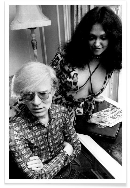 Zwart en wit, Andy Warhol, Vintage foto van Andy Warhol poster