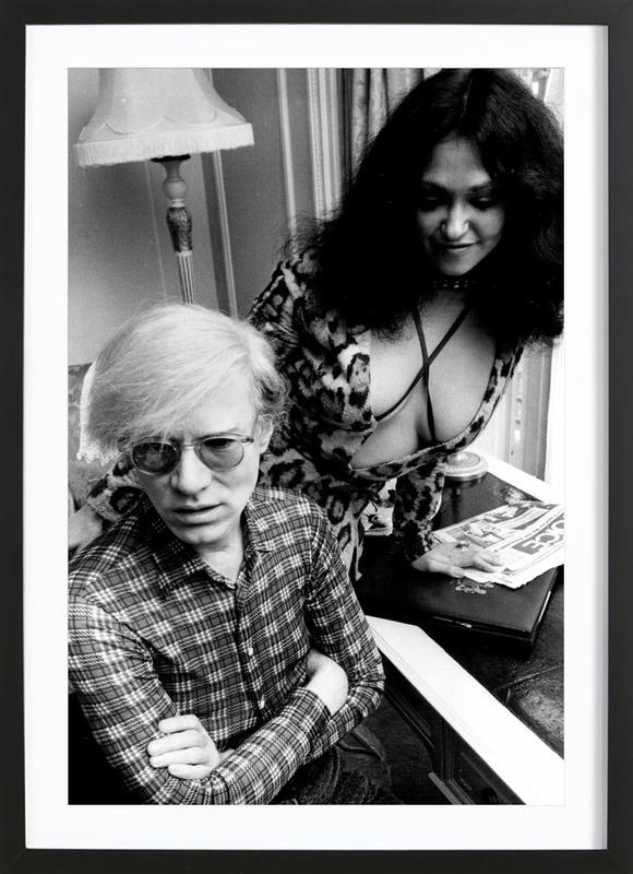 Andy Warhol affiche sous cadre en bois