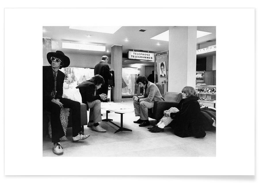 Noir & blanc, The Rolling Stones, Les Rolling Stones, 1967 - Photographie affiche