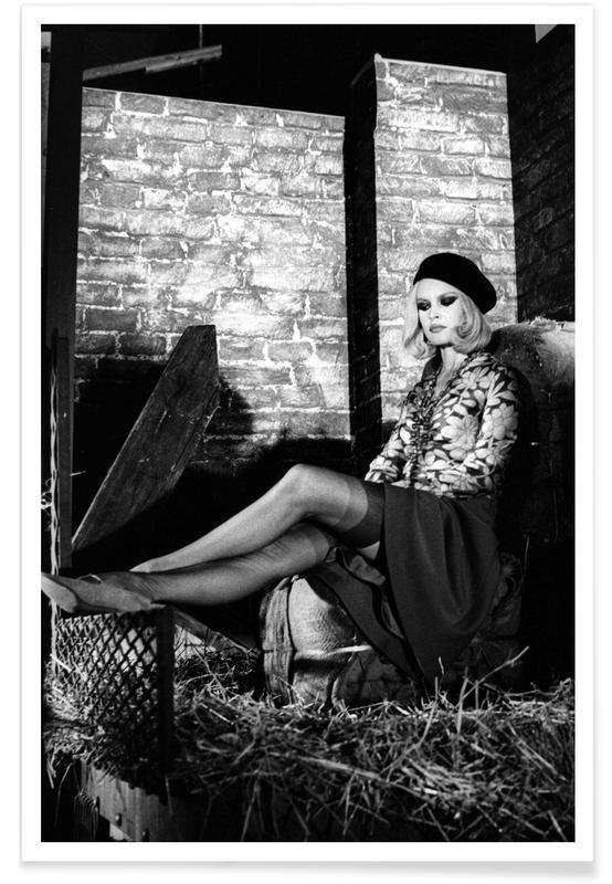 Sort & hvidt, Brigitte Bardot, Brigitte Bardot - Bonnie And Clyde Plakat