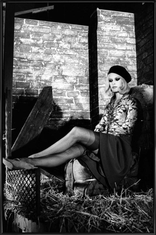 Brigitte Bardot - Bonnie And Clyde -Bild mit Kunststoffrahmen