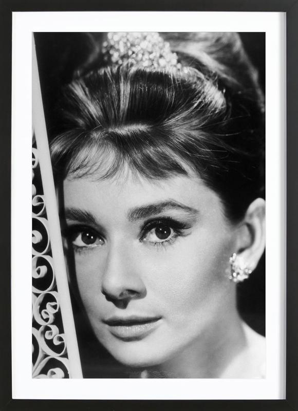 Audrey Hepburn 3 -Bild mit Holzrahmen