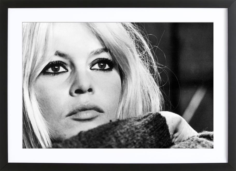 Brigitte Bardot 4 affiche sous cadre en bois