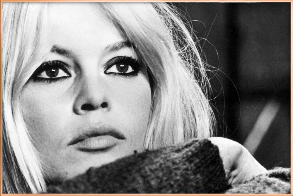 Brigitte Bardot 4 poster in aluminium lijst
