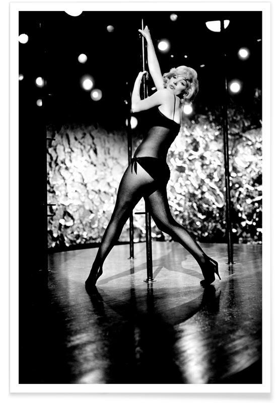 Marilyn Monroe Pole Dancing -Poster