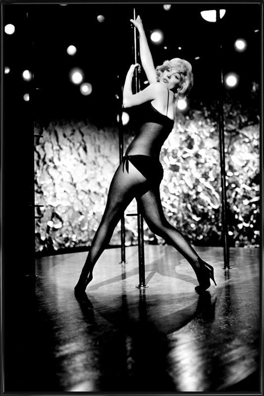 Marilyn Monroe Pole Dancing affiche encadrée