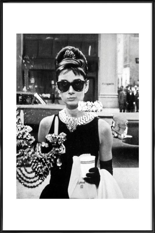 Audrey Hepburn in Breakfast at Tiffany's, 1961 Poster i standardram