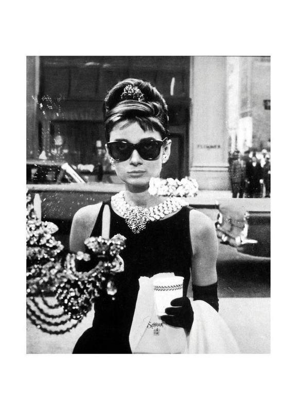 Audrey Hepburn in Breakfast at Tiffany's, 1961 Canvastavla