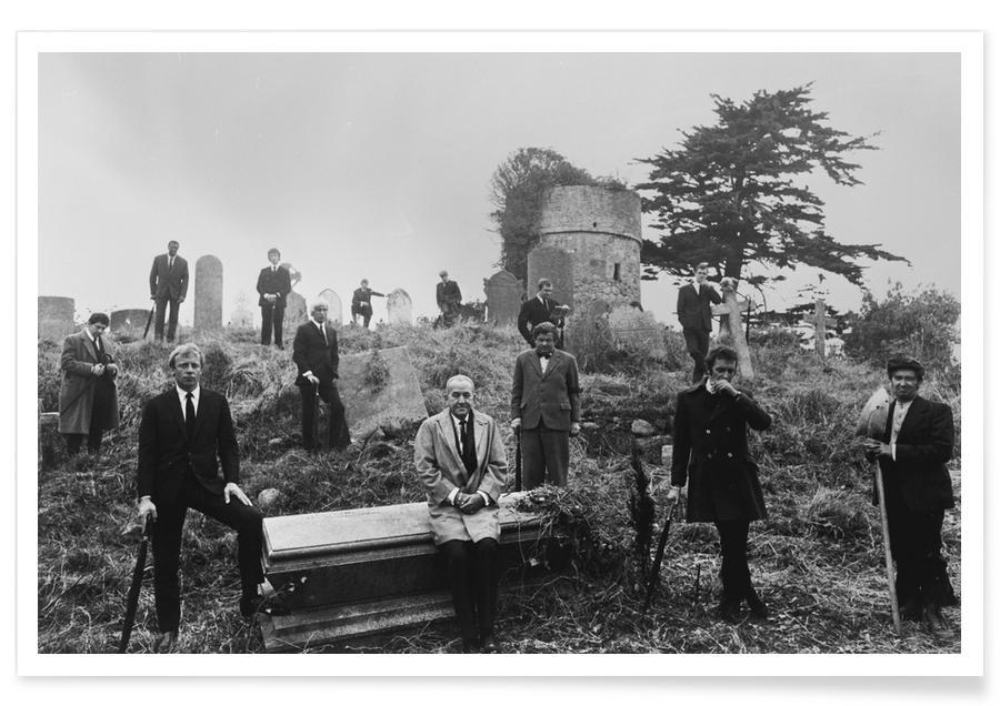 Films, Noir & blanc, Le travail italien - Photographie vintage affiche