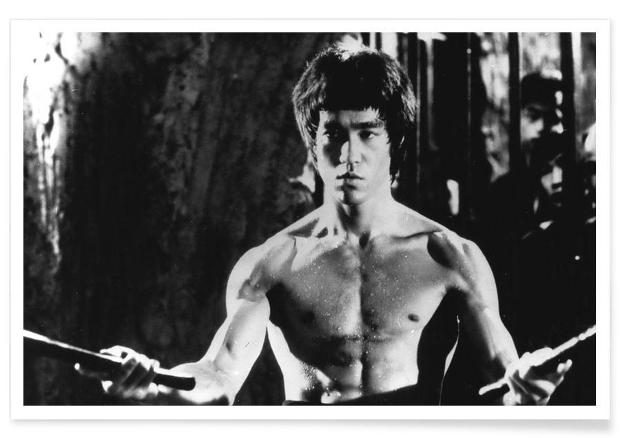 Bruce Lee, Films, Bruce Lee dans Enter the Dragon. - Photographie affiche