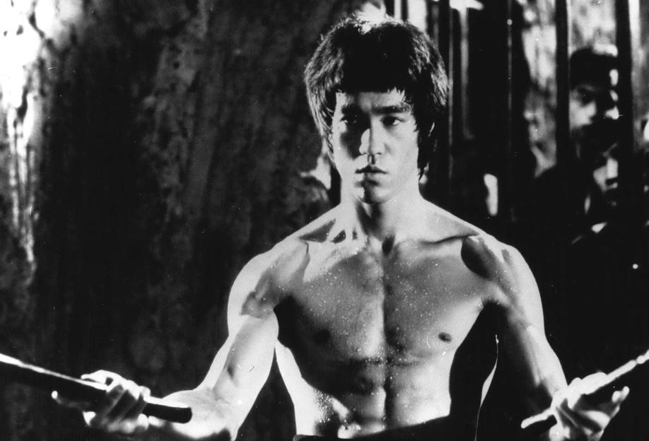 Bruce Lee in 'Enter The Dragon' tableau en verre