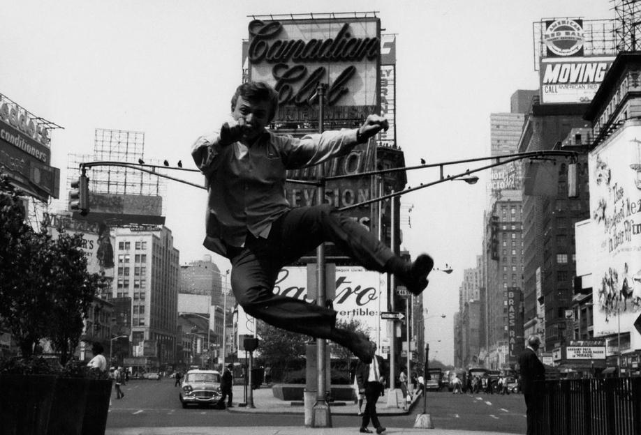 Tommy Steele at Times Square tableau en verre