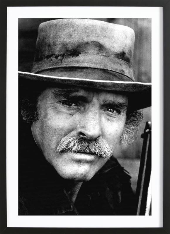 Actor Burt Lancaster, 1972 affiche sous cadre en bois