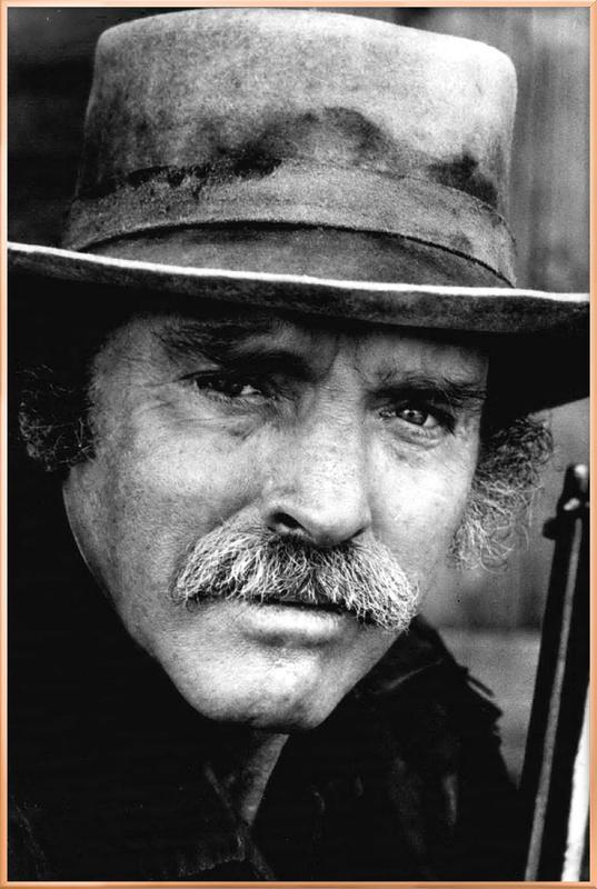 Actor Burt Lancaster, 1972 -Poster im Alurahmen