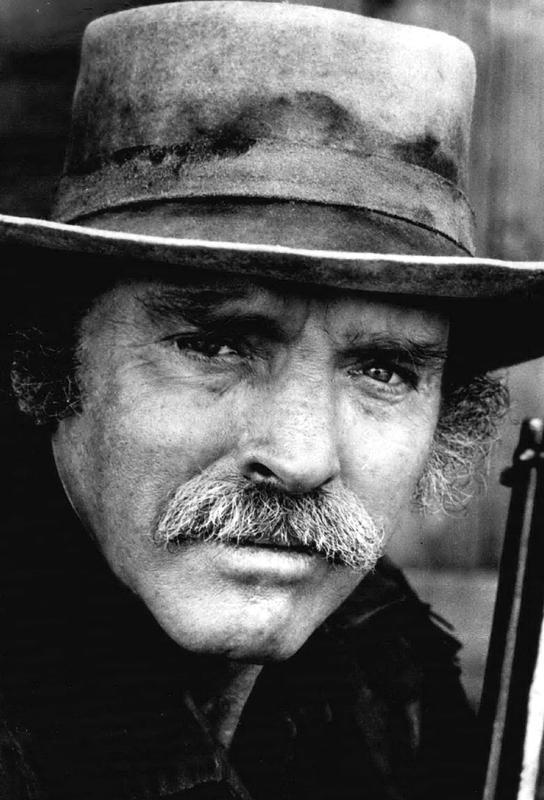 Actor Burt Lancaster, 1972 tableau en verre