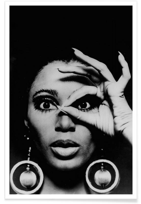 Donyale Luna, 1970 - Photographie vintage affiche