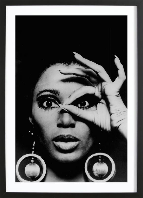 Donyale Luna, 1970 affiche sous cadre en bois