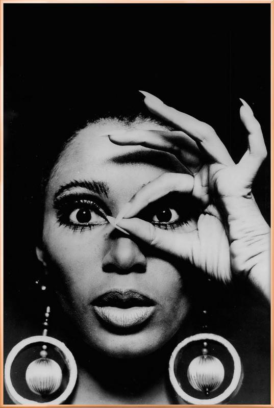 Donyale Luna, 1970 Poster in Aluminium Frame
