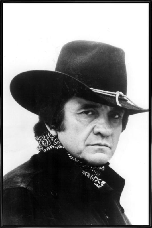 Country Singer, Johnny Cash -Bild mit Kunststoffrahmen