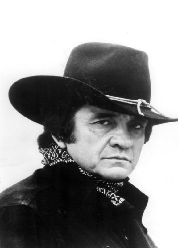 Country Singer, Johnny Cash canvas doek