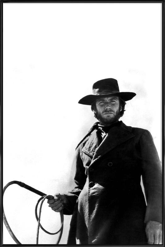 Clint Eastwood as 'The Stranger' -Bild mit Kunststoffrahmen
