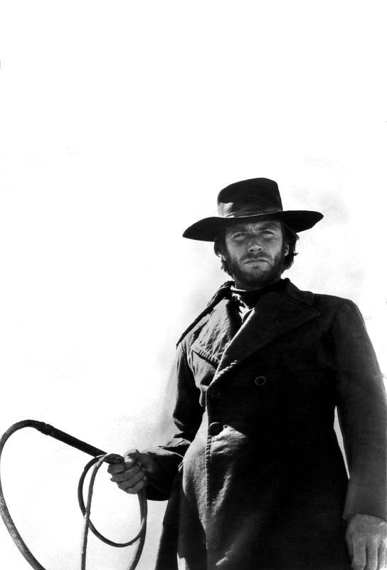 Clint Eastwood as 'The Stranger' Impression sur alu-Dibond