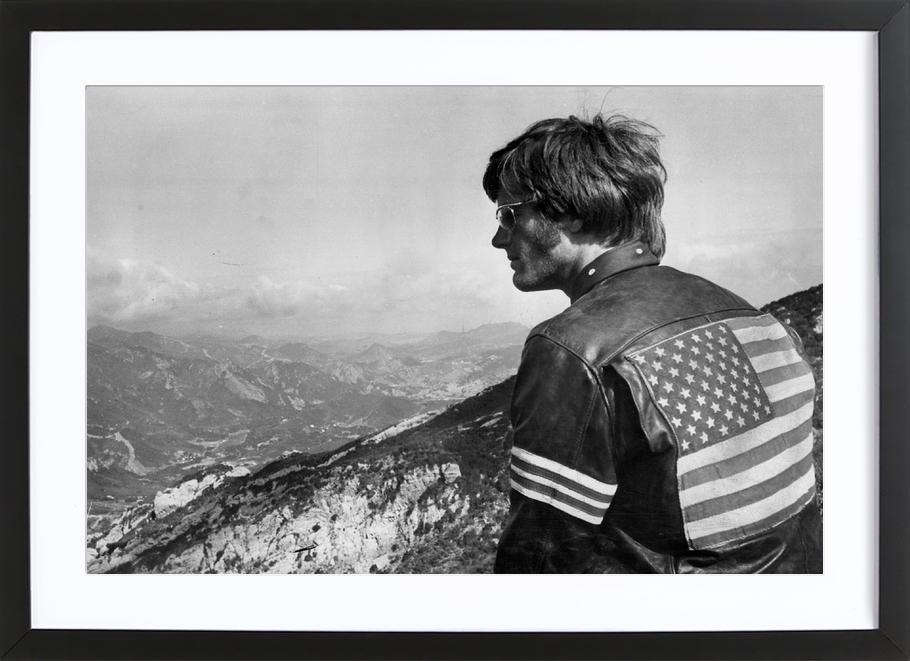Easy Rider, Peter Fonda -Bild mit Holzrahmen