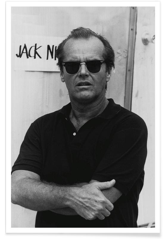 Black & White, Jack Nicholson in Sunglasses Photograph Poster