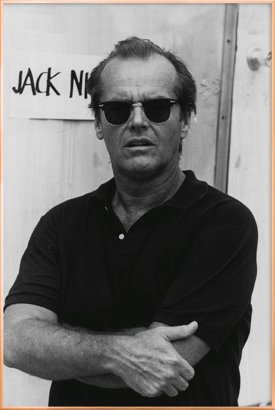 Jack Nicholson in Sunglasses affiche sous cadre en aluminium