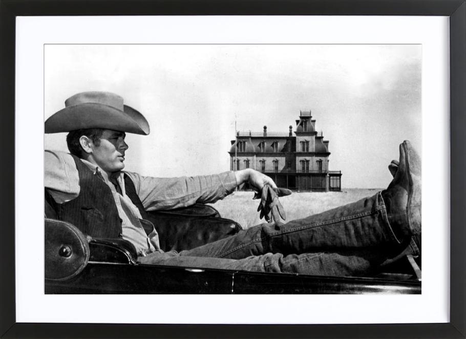 James Dean in 'Giant' Framed Print