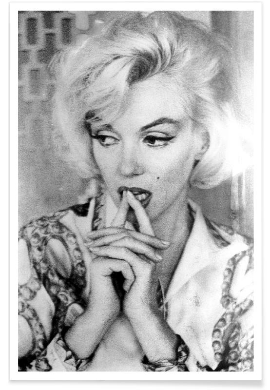 Marilyn Monroe wearing a blouse Poster