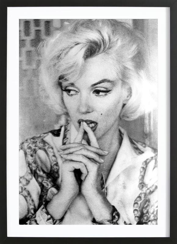 Marilyn Monroe wearing a blouse Framed Print