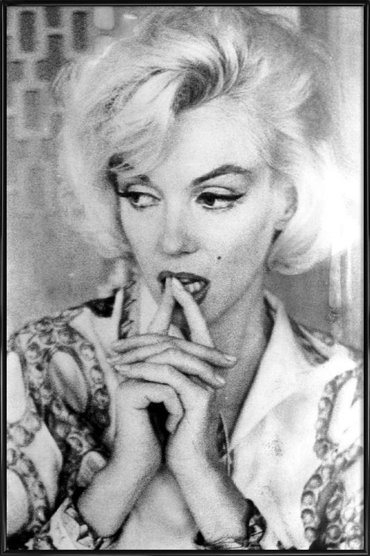 Marilyn Monroe wearing a blouse Framed Poster