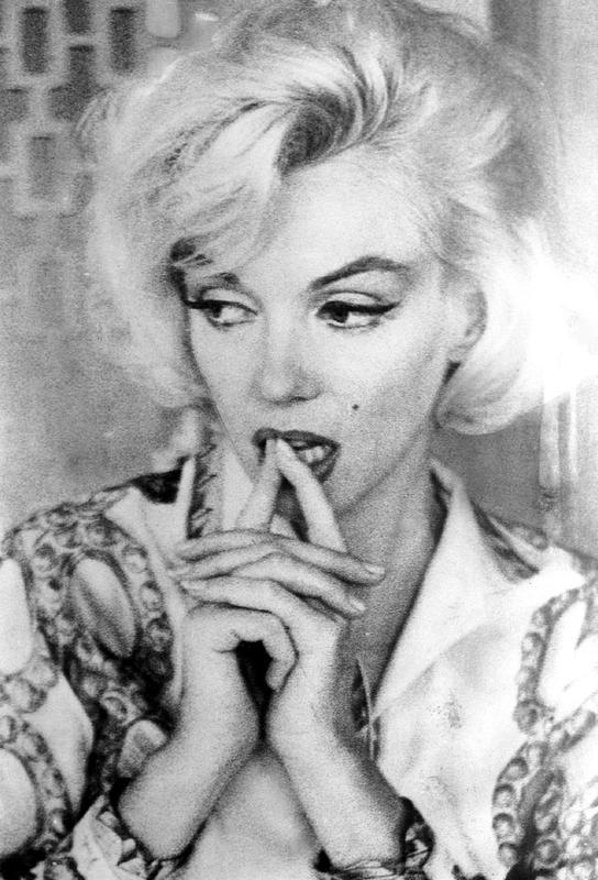 Marilyn Monroe wearing a blouse Acrylic Print