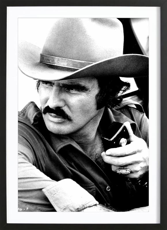 Burt Reynolds in 'Smokey and the Bandit' -Bild mit Holzrahmen