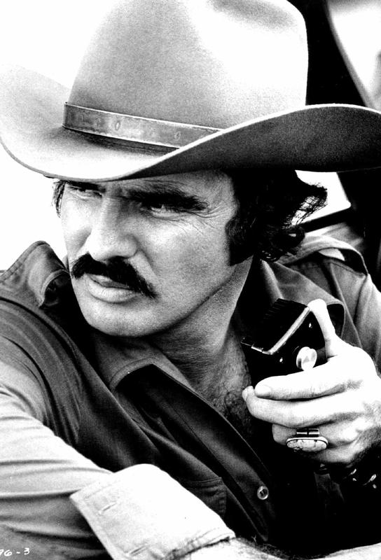 Burt Reynolds in 'Smokey and the Bandit' Aluminium Print